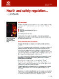 Health and safety regulation a short guide HSC13