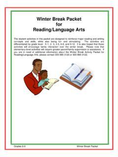 Winter Break Packet for Reading/Language Arts