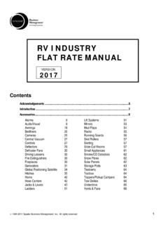 RV INDUSTRY FLAT RATE MANUAL - Spader