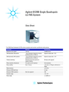 Agilent 6120B Single Quadrupole LC/MS System