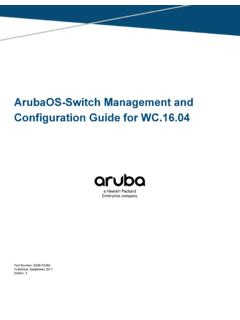 Configuration Guide for WC.16.04 ArubaOS-Switch …