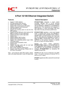 8 Port 10/100 Ethernet Integrated Switch - IC Plus …