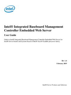 Intel® Integrated Baseboard Management Controller …