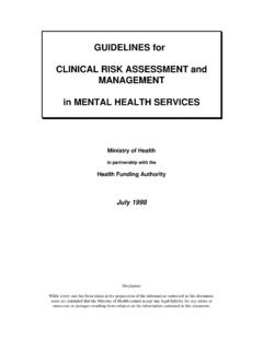 Guidelines for Clinical Risk Assessment and Management in …