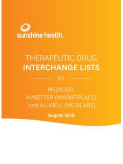 THERAPEUTIC DRUG INTERCHANGE LISTS