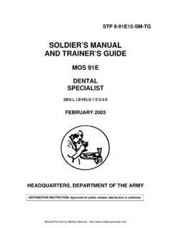 SOLDIER'S MANUAL AND TRAINER'S GUIDE - …