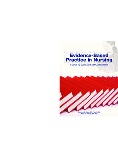 Evidence-Based v Practice in Nursing Evidence-Based A ...