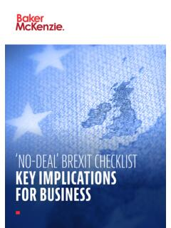 'NO-DEAL' BREXIT CHECKLIST KEY IMPLICATIONS FOR …