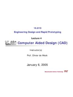 Computer Aided Design (CAD) - MIT OpenCourseWare