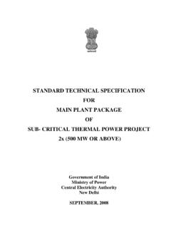 STANDARD TECHNICAL SPECIFICATION FOR …