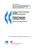 English-language Literature Review - OECD.org
