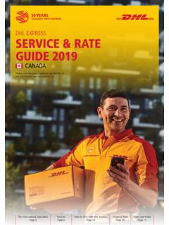 DHL EXPRESS SERVICE & RATE GUIDE 2021