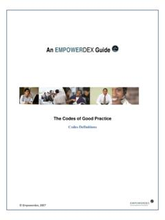 An EMPOWERDEX Guide - Definitions