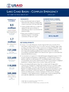 Lake Chad Basin Complex Emergency Fact Sheet #18 …