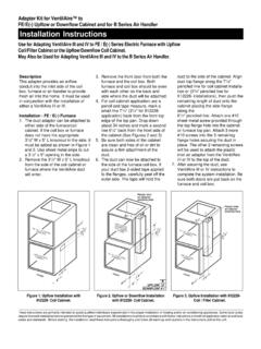 FE/E(-) Upflow or Downflow Cabinet and for B Series Air ...