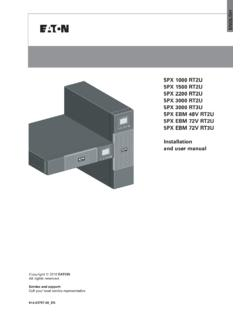Eaton 5PX UPS user manual