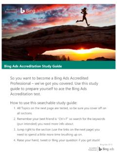 Bing Ads Accreditation Study Guide