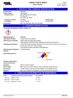 SAFETY DATA SHEET Page: 1 Thaw Master Revision
