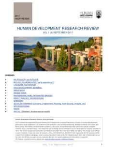 HUMAN DEVELOPMENT RESEARCH REVIEW - University of …