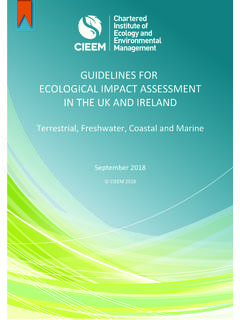 GUIDELINES FOR ECOLOGICAL IMPACT ASSESSMENT IN THE …
