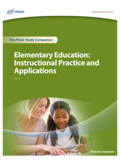 Elementary Education: Instructional Practice and ...