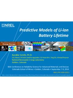 Predictive Models of Li-ion Battery Lifetime - nrel.gov