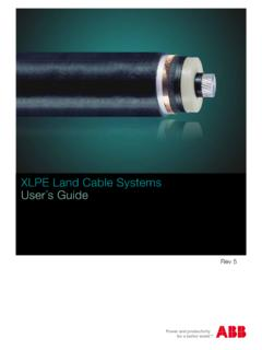 XLPE Land Cable Systems User´s Guide - ABB Ltd