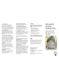 Self-guided Geology Walking Tour - mass.gov