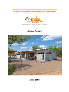 Fiscal Year 2009 Annual Report Cover Letter - Wings of the ...