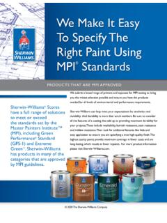 We Make It Easy To Specify The Right Paint Using MPI …