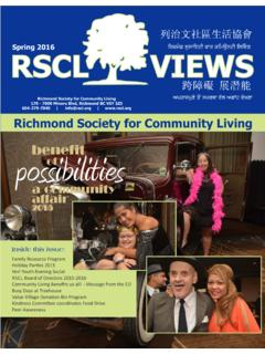 Richmond Society for Community Living 604-279-7040 | …