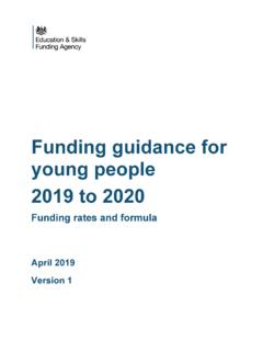 Funding guidance for young people 2019 to 2020