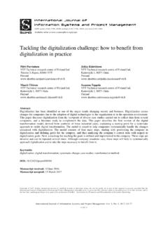 Tackling the digitalization challenge: how to benefit from ...