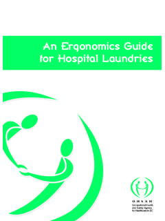 An Ergonomics Guide for Hospital Laundries