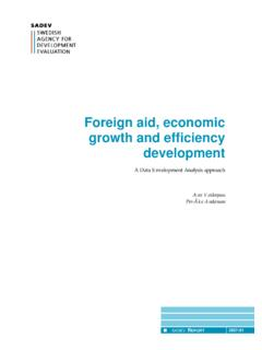 Foreign aid, economic growth and efficiency development