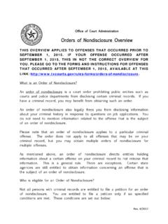 Orders of Nondisclosure Overview - txcourts.gov