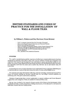 BRITISH STANDARDSAND CODES OF PRACTICE FORTHE …