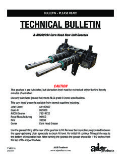 BULLETIN - PLEASE READ! TECHNICAL BULLETIN