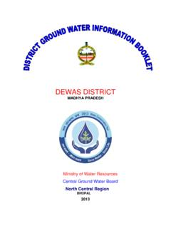 DEWAS DISTRICT - Central Ground Water Board