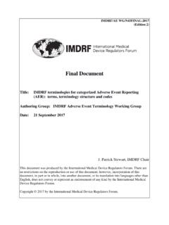 IMDRF/AE WG/N43FINAL:2017 (Edition 2)