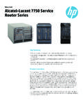 Alcatel-Lucent 7750 Service Router Series data sheet