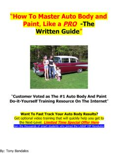 How To Master Auto Body and Paint Like a PRO ­The Written ...
