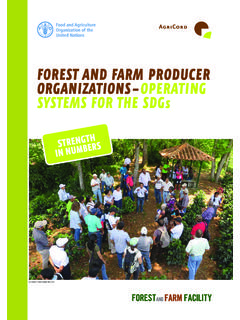FOREST AND FARM PRODUCER ORGANIZATIONS – …