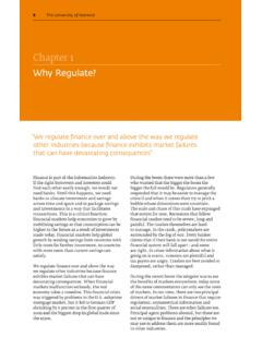 Chapter 1 Why Regulate? - University of Warwick