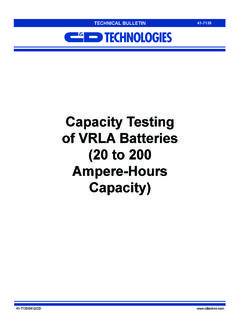 Capacity Testing of VRLA Batteries (20 to 200 …