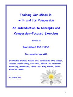 Training Our Minds in, with and for Compassion An ...
