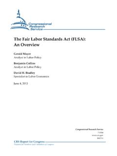 The Fair Labor Standards Act (FLSA): An Overview