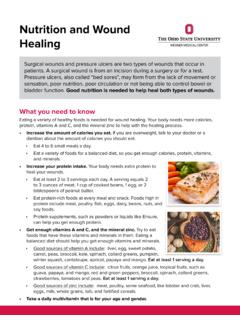 Nutrition and Wound Healing - osumc.edu
