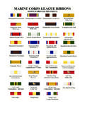 MARINE CORPS LEAGUE RIBBONS
