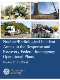 NUCLEAR/RADIOLOGICAL INCIDENT ANNEX - …